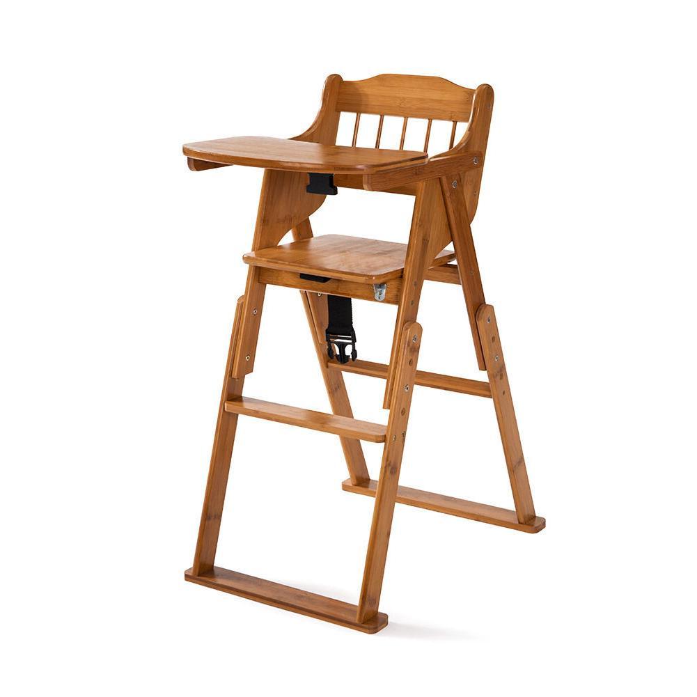 New Baby High Chair Bamboo Stool Infant Feeding Children Toddler Restaurant
