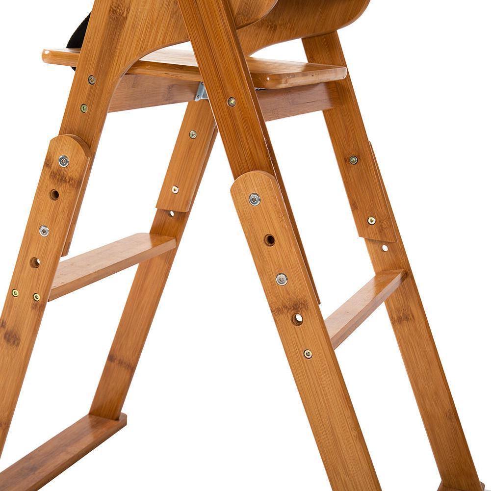 New Baby High Chair Bamboo Stool Children Restaurant