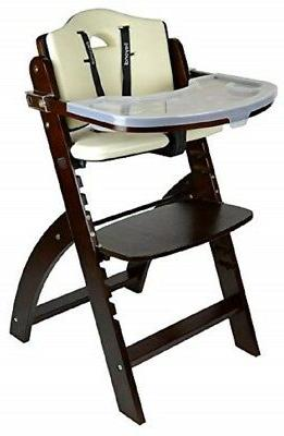 NEW Abiie Mahogany White Beyond Junior Y High Chair
