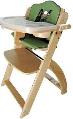 NEW Abiie Natural Wooden Olive Beyond Junior Y High Chair
