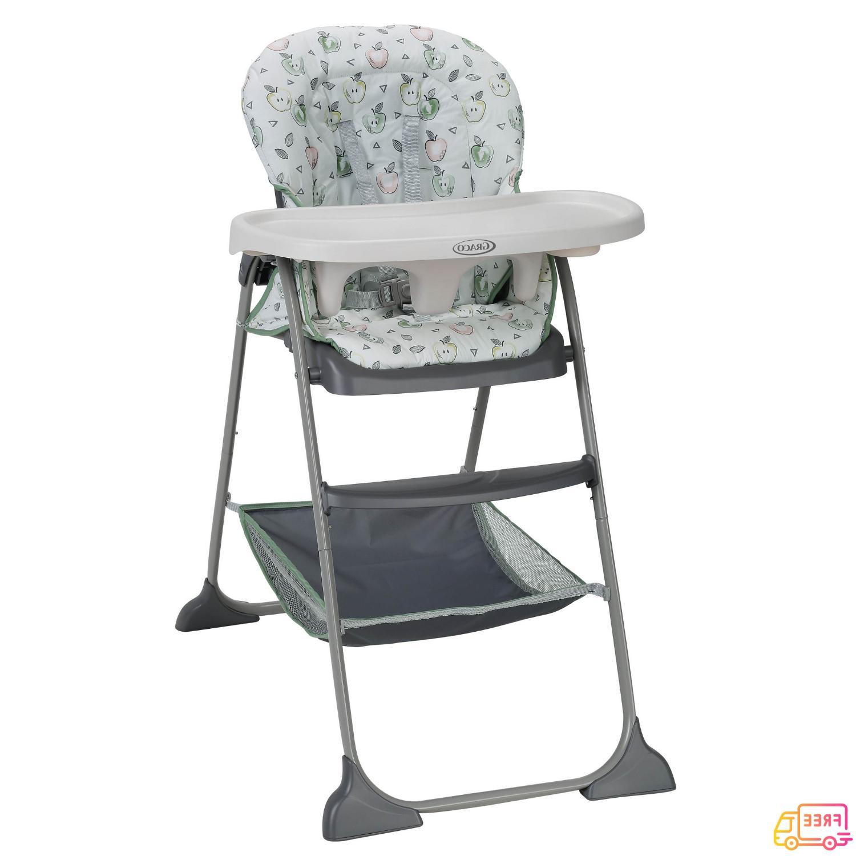 NEW Graco Slim Snacker Fast-Folding High Chair, Gala