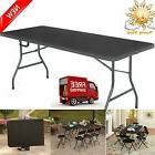 Cosco Office Centerfold Folding Table Black 6 Foot Portable