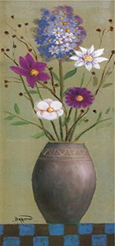 Oil Painting 'Flowers In Bloom' Printing On High Quality Pol