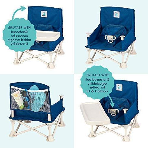 hiccapop Baby | Portable High Chair Camping, | Tip-Free to Kitchen Chairs - Go-Anywhere High