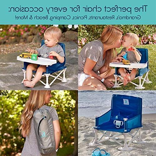 hiccapop Omniboost Booster Seat with for High Camping, Beach, to Kitchen - Go-Anywhere High Chair