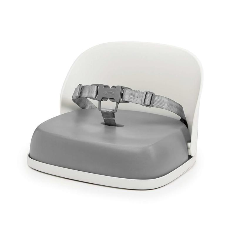 perch booster seat with straps gray