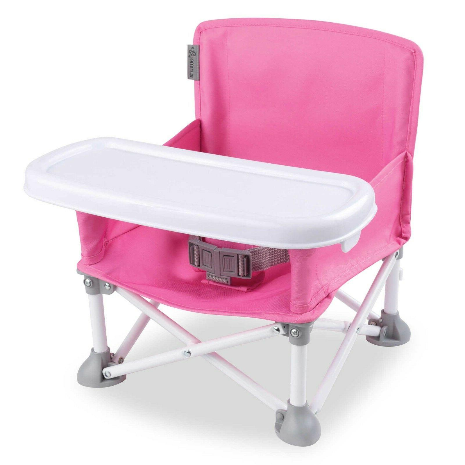 Summer Infant® Pop N' Sit Portable Booster in Pink removabl
