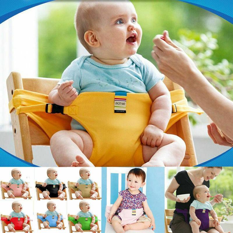 portable baby feeding seat belt baby high