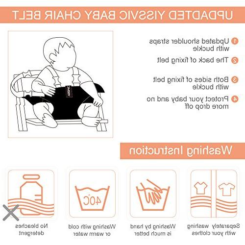 YISSVIC Baby Chair Toddler Seat Chair Soft Belt Portable High Chair Booster Baby