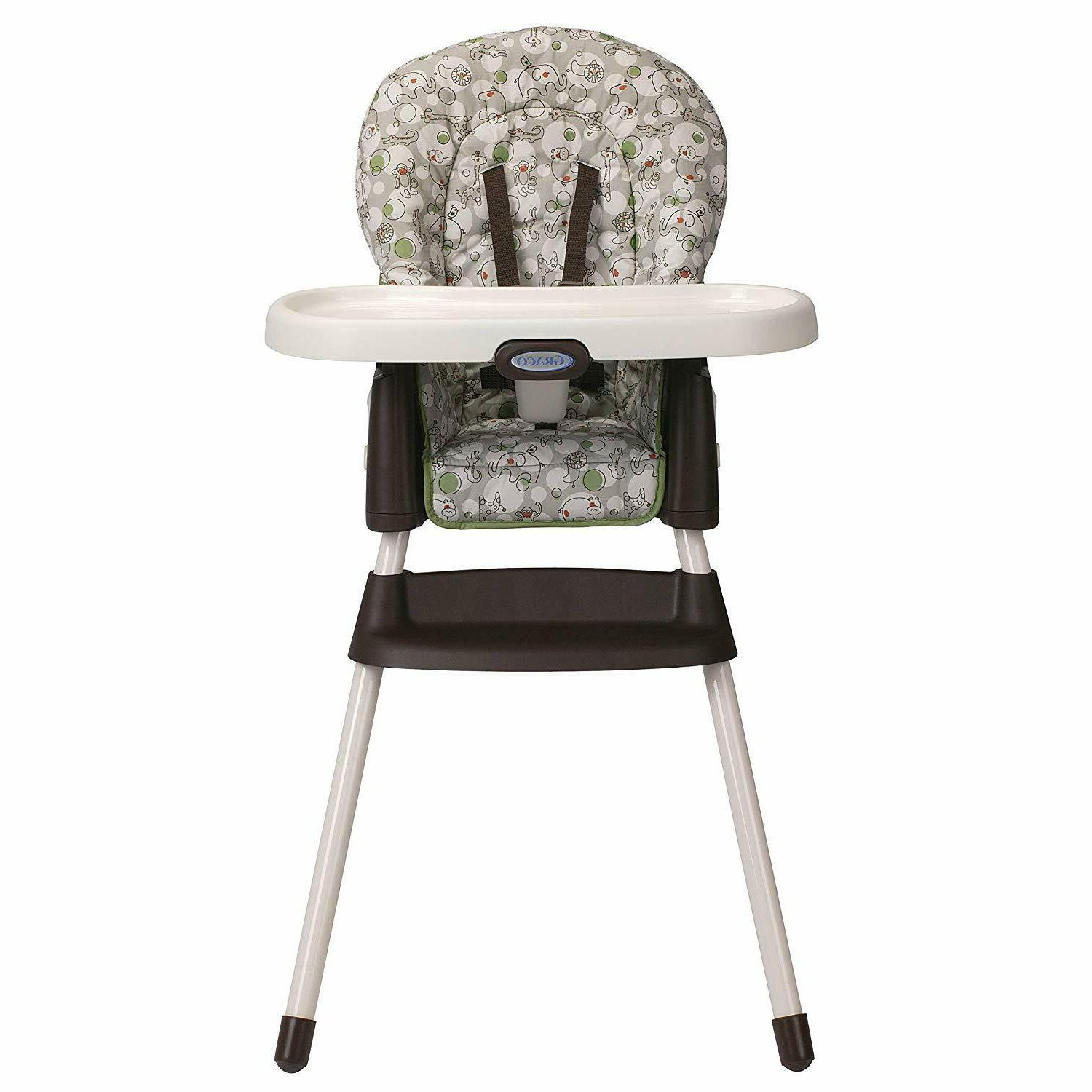 Portable High Chair 3 Position Reclining Washable Seat