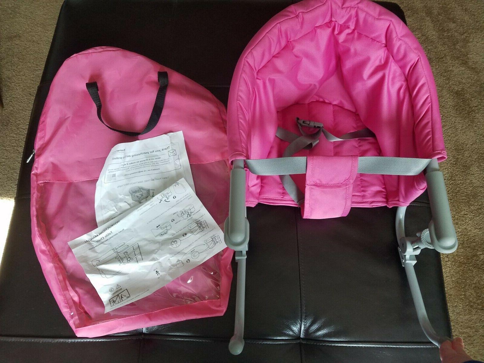 portable hook on child high chair pink