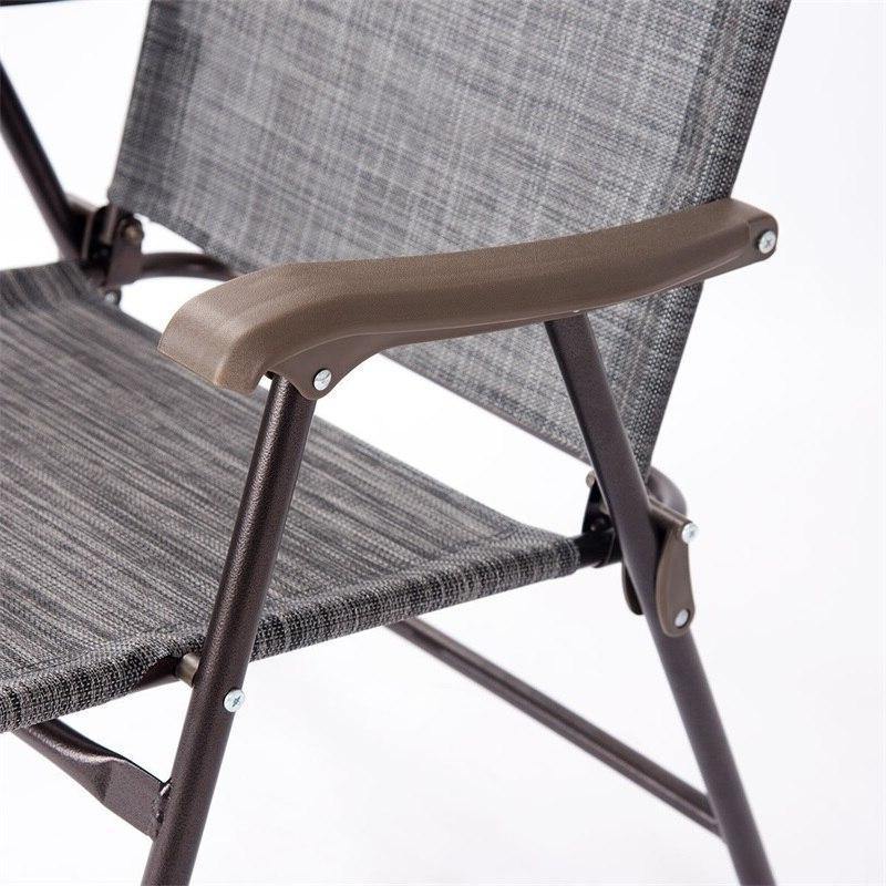Set of 2 Folding Sling polyester cloth Camping Deck <font><b>Chairs</b></font> Modern <font><b>High</b></font> Quality