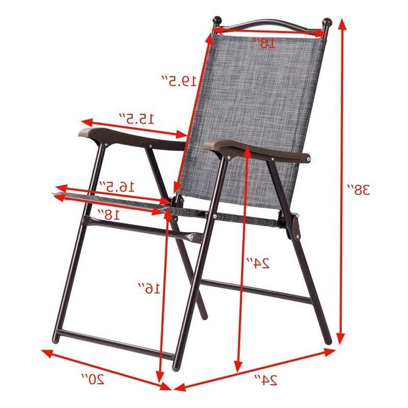 Set of Folding Sling polyester cloth Quality <font><b>Chairs</b></font>