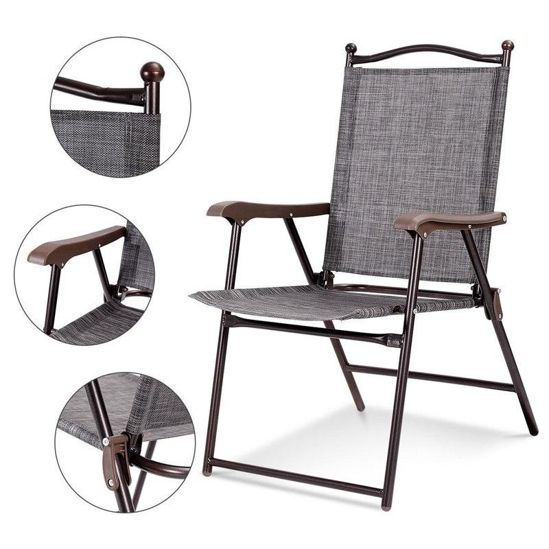 Set Folding polyester <font><b>Chairs</b></font> Quality Casual
