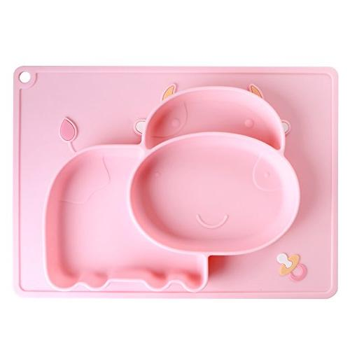 iSolem Baby Silicone Placemat, Non-Slip Toddlers Food Feeding
