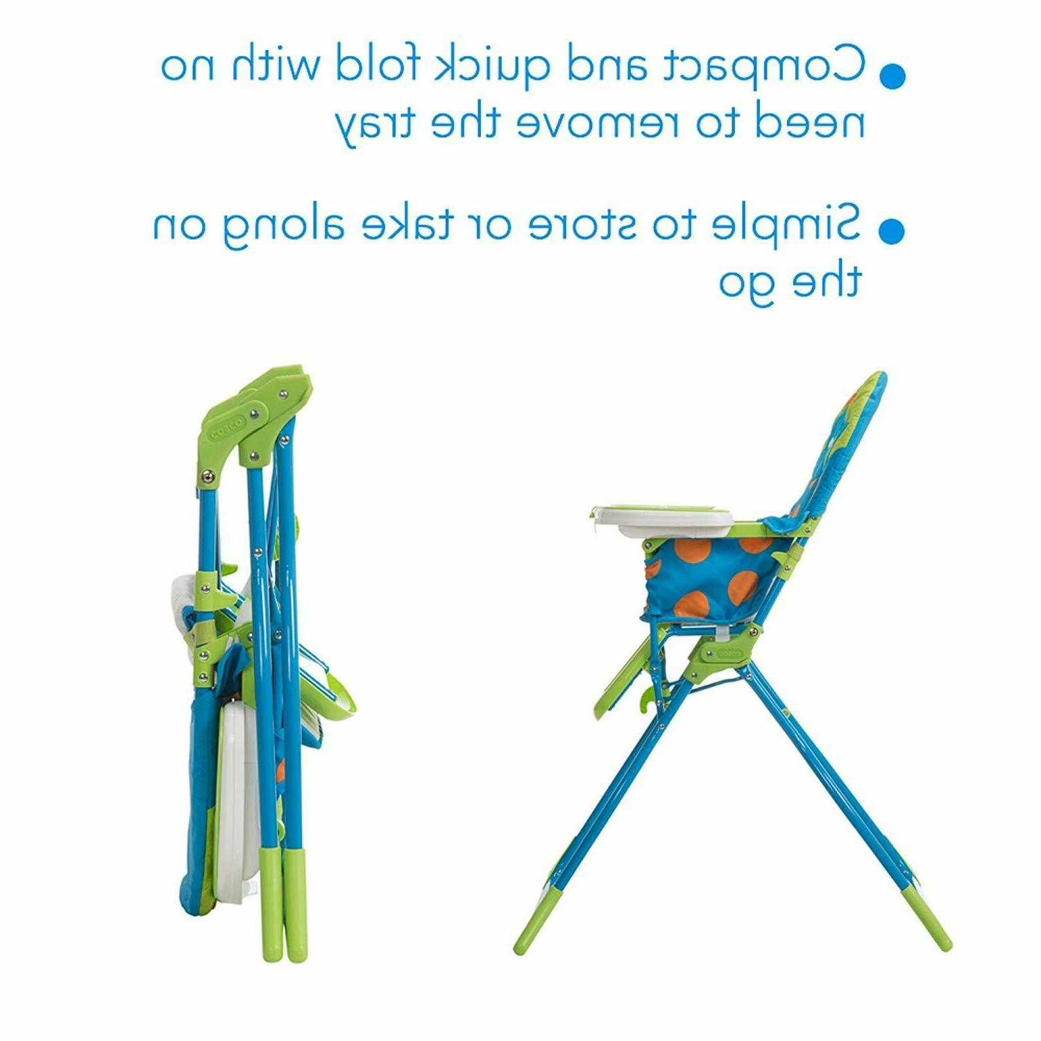Cosco Fold Deluxe High Chair with 3-Position Tray