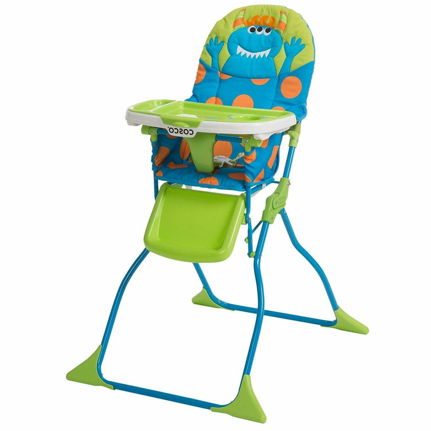 simple fold deluxe high chair with 3