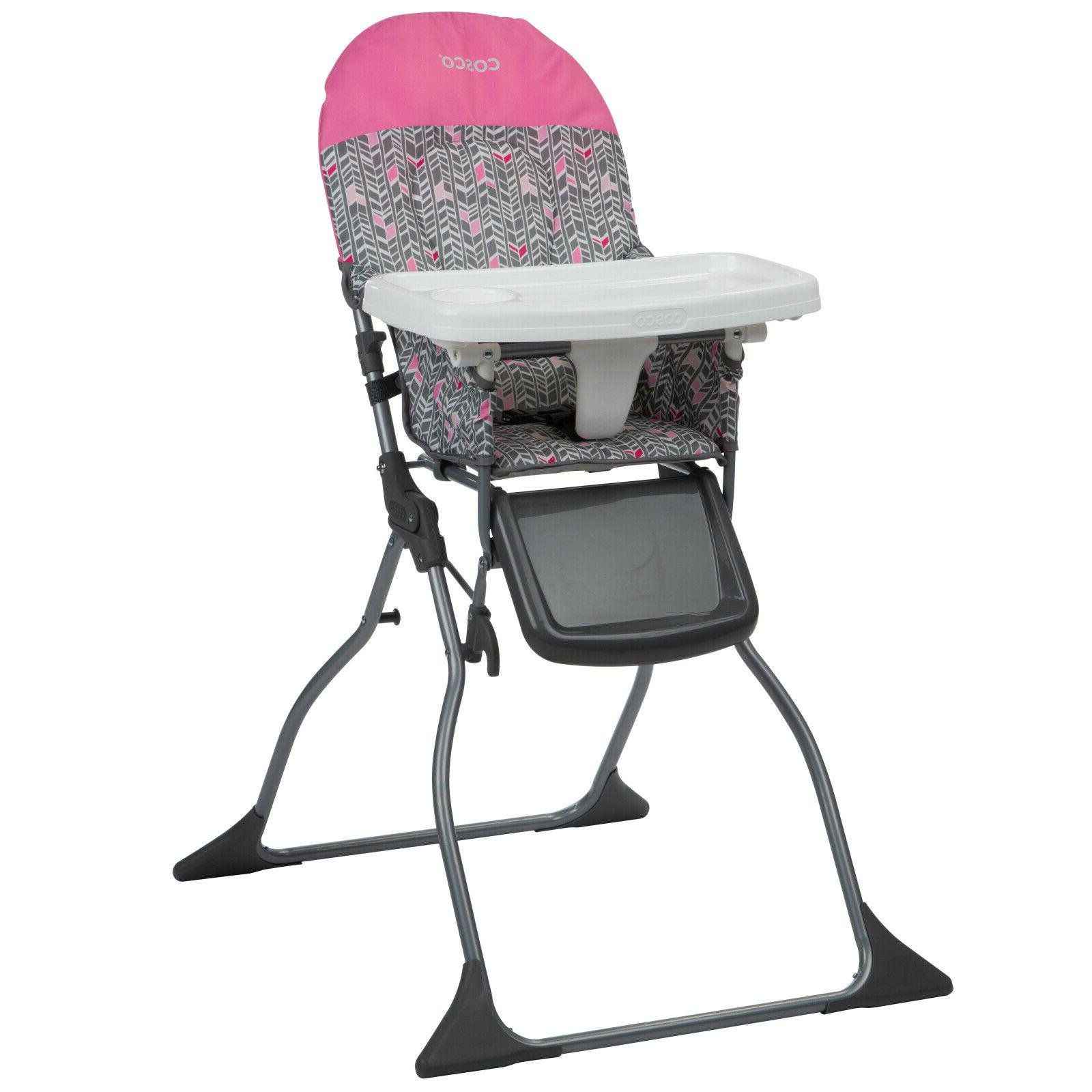 Simple Fold High Chair Adjustable Tray Comfortable rest