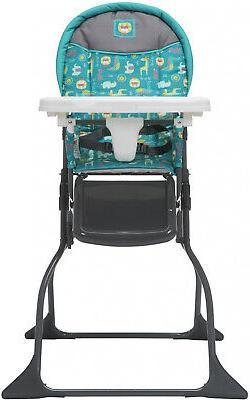 simple fold high chair safari style