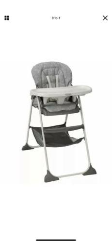 Slim Snacker High Chair Toddle Chair Foldable Compact Design