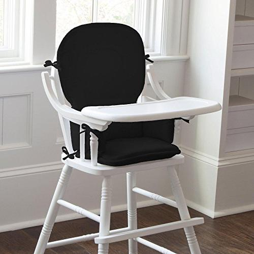 solid black chair pad
