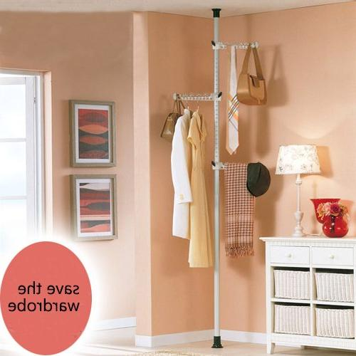 Asunflower Coat 3-Tier Adjustable Clothes Hanger,Free Standing Hanger