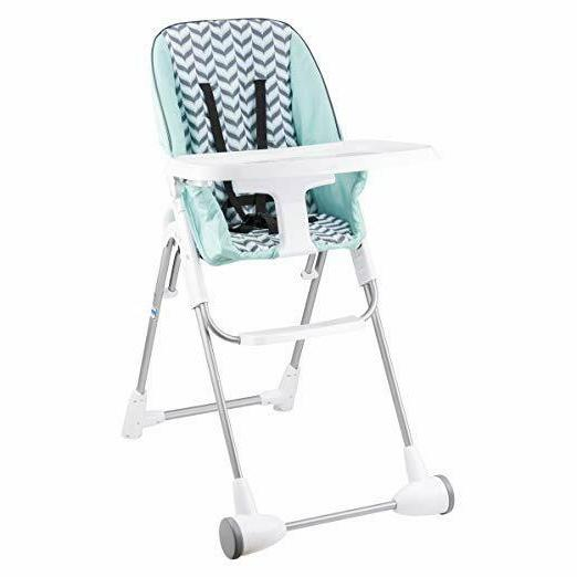 symmetry flat fold high chair spearmint spree