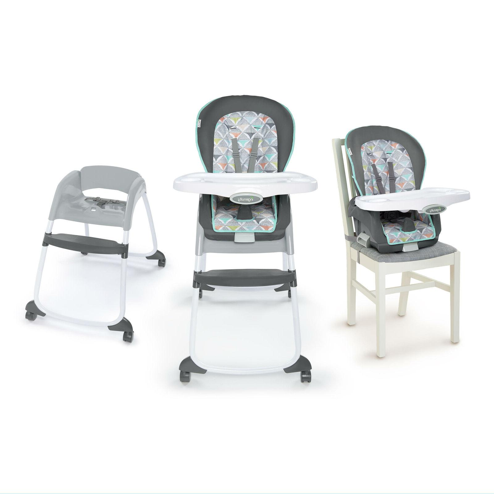 Ingenuity Trio 3n1 High Chair Baby Toddler Seat Booster Safe