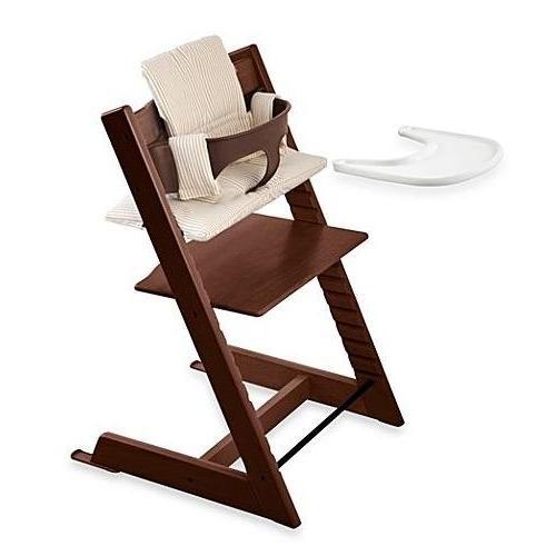 tripp trapp walnut chair complete