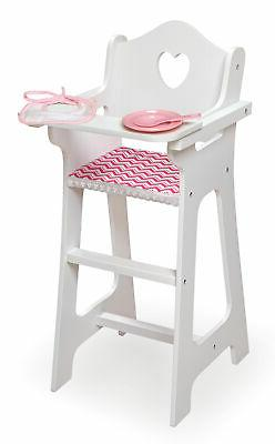 Doll High Chair with Accessories and Free Personalization Ki