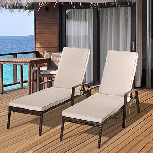 wicker chaise lounge patio adjustable