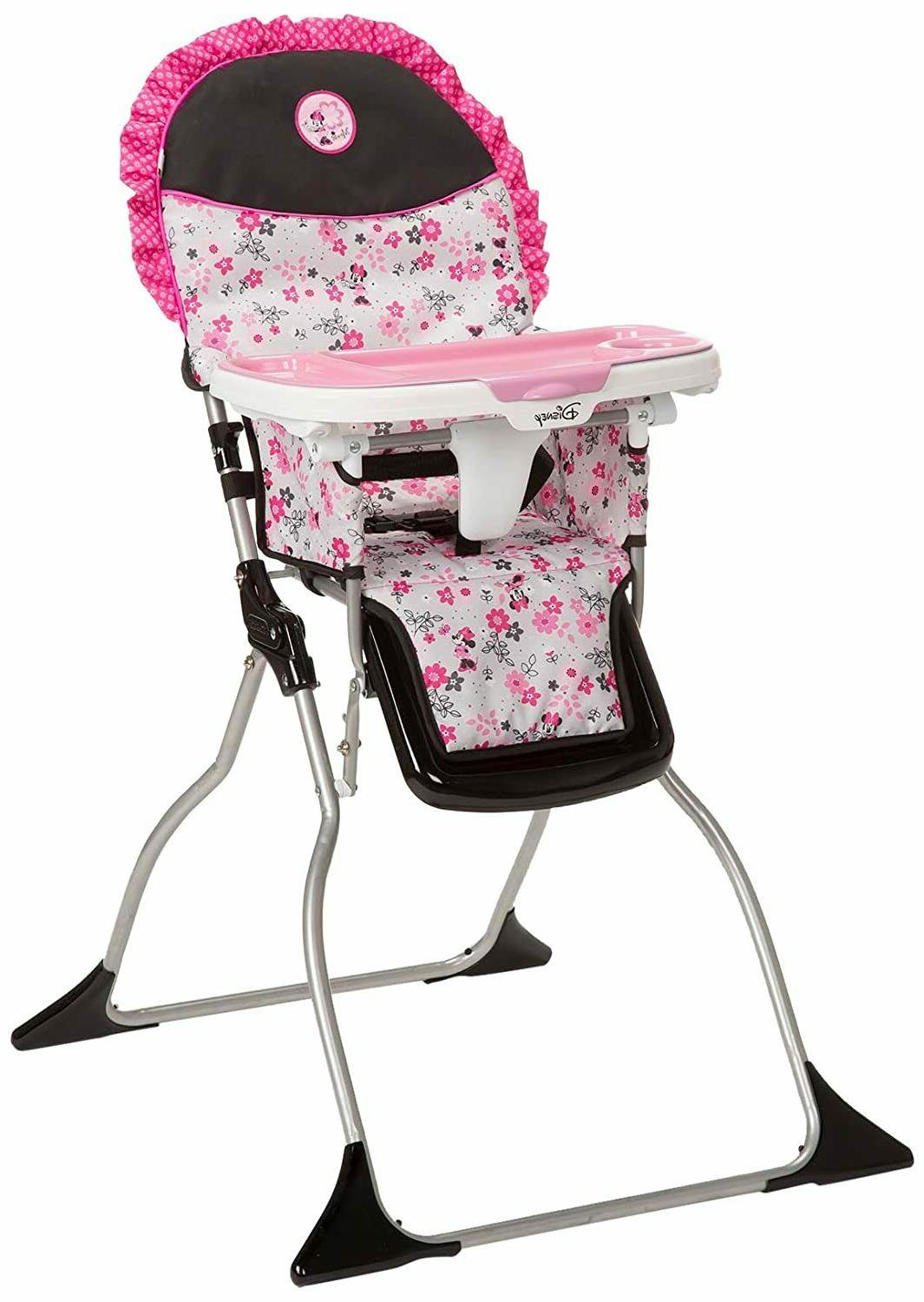 Baby Minnie Mouse Simple Fold Plus High Chair with 3-Positio