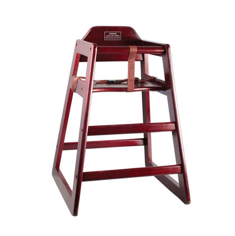 wood high chair mahogany chh103a a4189v