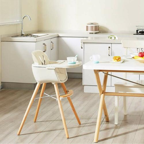 Wooden High Chair Convertible Table Seat Booster Toddler Feeding Highchair
