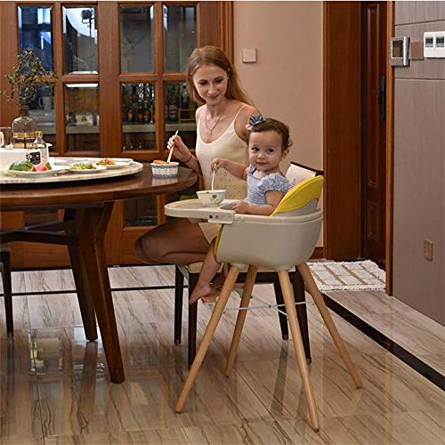 Asunflower Wooden 3 Modern Solution Cushion, Adjustable Feeding Chair for
