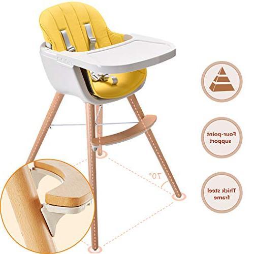 Asunflower High 3 in Modern Highchair Cushion, High Chair Toddler/Infant/Baby
