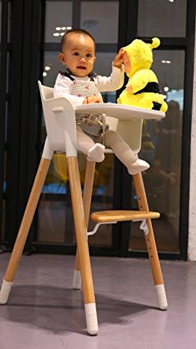 Asunflower Wooden High Chair Adjustable Feeding Baby