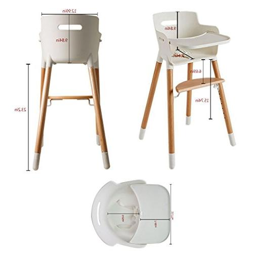 Asunflower Wooden Adjustable Highchairs Solution with Baby/Infants/Toddlers