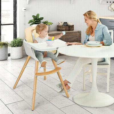 Wooden Chair Baby 3 1 Convertible White