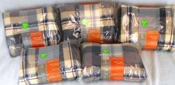 Lot of 5 Stokke Tartan Blue Plaid Cushion Sets for Tripp Tra