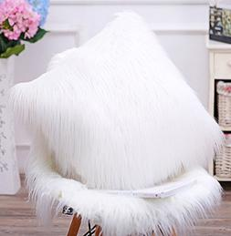 Luxury Double-sided Shaggy Throw Pillow Long Faux Fur 18x18