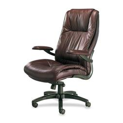 Mayline Ultimo Series Dlx Leather High-Back Chairs-Executive