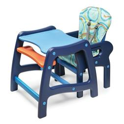 Multi Stage Baby High Chair with Playtable Conversion  Blue