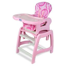 Multi Stage Baby High Chair with Playtable Conversion Pink W