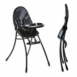 Bloom Nano Flat-Fold/Foldable Baby High Chair - Matt Black/B