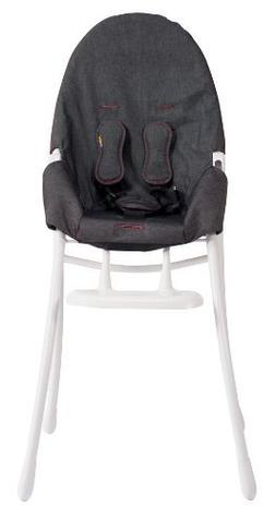 bloom Nano Folding High Chair with White Frame in Downtown D