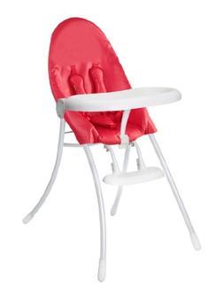 Bloom Nano Urban Highchair, Matt White/Rock Red