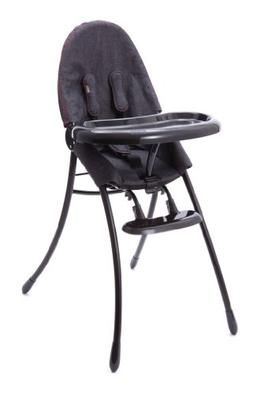 Bloom Nano Urban Highchair, Matt Black/Downtown Denim