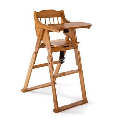 New Baby High Chair Bamboo Stool Infant Feeding Children Tod