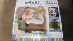 New Compact Summer Infant Take Two Booster Seat Folding High